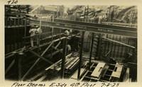 Lower Baker River dam construction 1925-07-08 Floor Beams E. Side 4th Floor