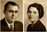 Individual studio portraits of Robert and Jean Welsch