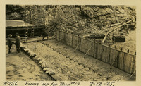 Lower Baker River dam construction 1925-02-12 Forms up for Run #13