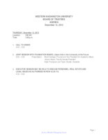 WWU Board of Trustees Packet: 2013-12-12