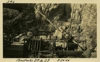 Lower Baker River dam construction 1925-05-22 Penstocks 2N & 2S