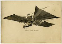 Drawing of flying machines