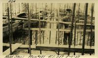 Lower Baker River dam construction 1925-08-04 Reinf Steel Run #181 El.389
