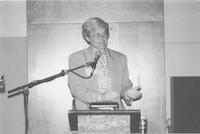 1993 Reunion--WWU President Karen Morse Addresses Banquet Attendees