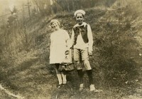 1925 John Kienast And Classmate in Costumes