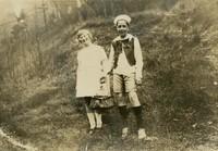 1925 John Kienast And Classmate in Costumes