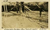 Lower Baker River dam construction 1925-05-25 Concrete Surface Run #114 El.304.3
