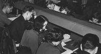 1949 Library: Students Studying