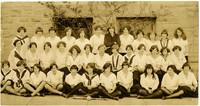 Fairhaven High School girls' softball team and coach