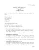 WWU Board of Trustees Minutes: 2013-08-23