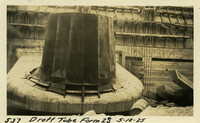 Lower Baker River dam construction 1925-05-10 Draft Tube Form 2S