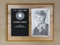 Hall of Fame Plaque: Claudia Lindor-Uhrig, Women's Golf, Class of 1980