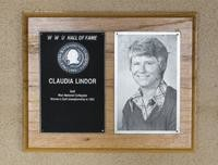 Hall of Fame Plaque: Claudia Lindor-Uhrig, Women's Golf, Class of 1980
