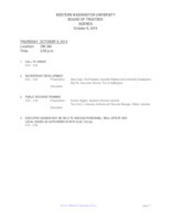 WWU Board of Trustees Packet: 2014-10-9
