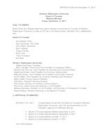 WWU Board of Trustees Minutes: 2017-12-15