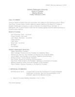 WWU Board of Trustees Minutes: 2019-02-08