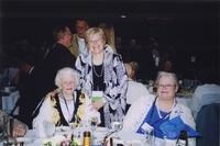 2007 Reunion--Golden Viking Phyllis (Plummer) Knick (class of 1945) and daughter Linda with WWU President Karen Morse at the Banquet