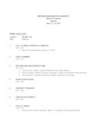 WWU Board of Trustees Packet: 2013-04-12