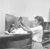 1959 Student With Art Project