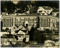 View from several blocks away of Lowell school at Douglas avenue and 12th street, Bellingham,WA
