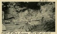 Lower Baker River dam construction 1925-04-30 W. Rock Surface Run #89 El.301.3