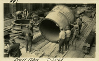 Lower Baker River dam construction 1925-07-20 Draft Tubes