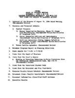 WWU Board minutes 1984 November