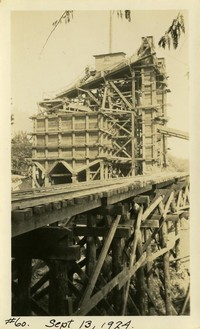 Lower Baker River dam construction 1924-09-13 Concrete batch plant