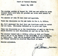 AS Board Minutes 1938-08