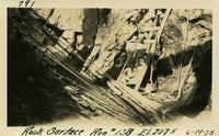 Lower Baker River dam construction 1925-06-19 Rock Surface Run #138 El.2875