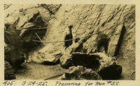 Lower Baker River dam construction 1925-03-24 Preparing for Run #52