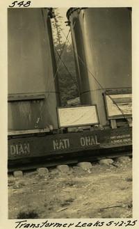 Lower Baker River dam construction 1925-05-12 Transformer Leaks