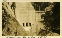 Lower Baker River dam construction 1925-06-20 Downstream Face of Dam