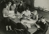 1942 Ninth Grade Students With Miss Melendy (Class 9-C)