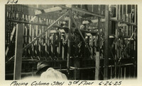 Lower Baker River dam construction 1925-06-26 Placing Column Steel 3rd Floor