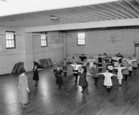 1924 Fifth Grade Girls in Gymnasium