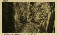 Lower Baker River dam construction 1925-06-12 E. Side of Dam Site