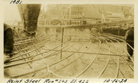 Lower Baker River dam construction 1925-10-16 Rein Steel Run #240 El.422