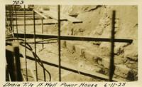 Lower Baker River dam construction 1925-06-11 Drain Tile N. Wall Power House