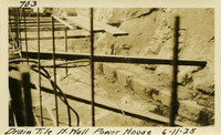 Lower Baker River dam construction 1925-06-11 Drain Tile N. Wall Power House