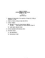 WWU Board minutes 1970 October