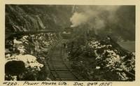 Lower Baker River dam construction 1924-12-29 Power House Site