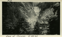 Lower Baker River dam construction 1925-06-25 View of Canyon