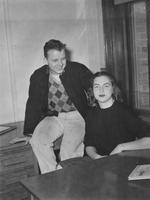 1946 Homecoming Co-Chairmen: Wade Haggard and Gloria Carey