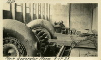 Lower Baker River dam construction 1925-08-17 Main Generator Room