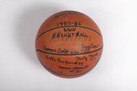 Basketball (Women's): Signed Basketball (side 2), 1985/86