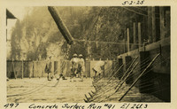 Lower Baker River dam construction 1925-05-02 Concrete Surface Run #91 El.261.3