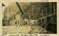 Lower Baker River dam construction 1925-05-02 Concrete Surface Run #91 El.261.3