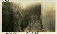 Lower Baker River dam construction 1925-09-14 Intake