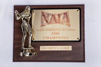Golf (Women's) Plaque: NAIA Pacific Northwest Sectional Champions, 1998